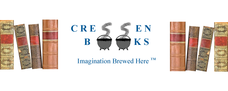 cressen books logo and motto